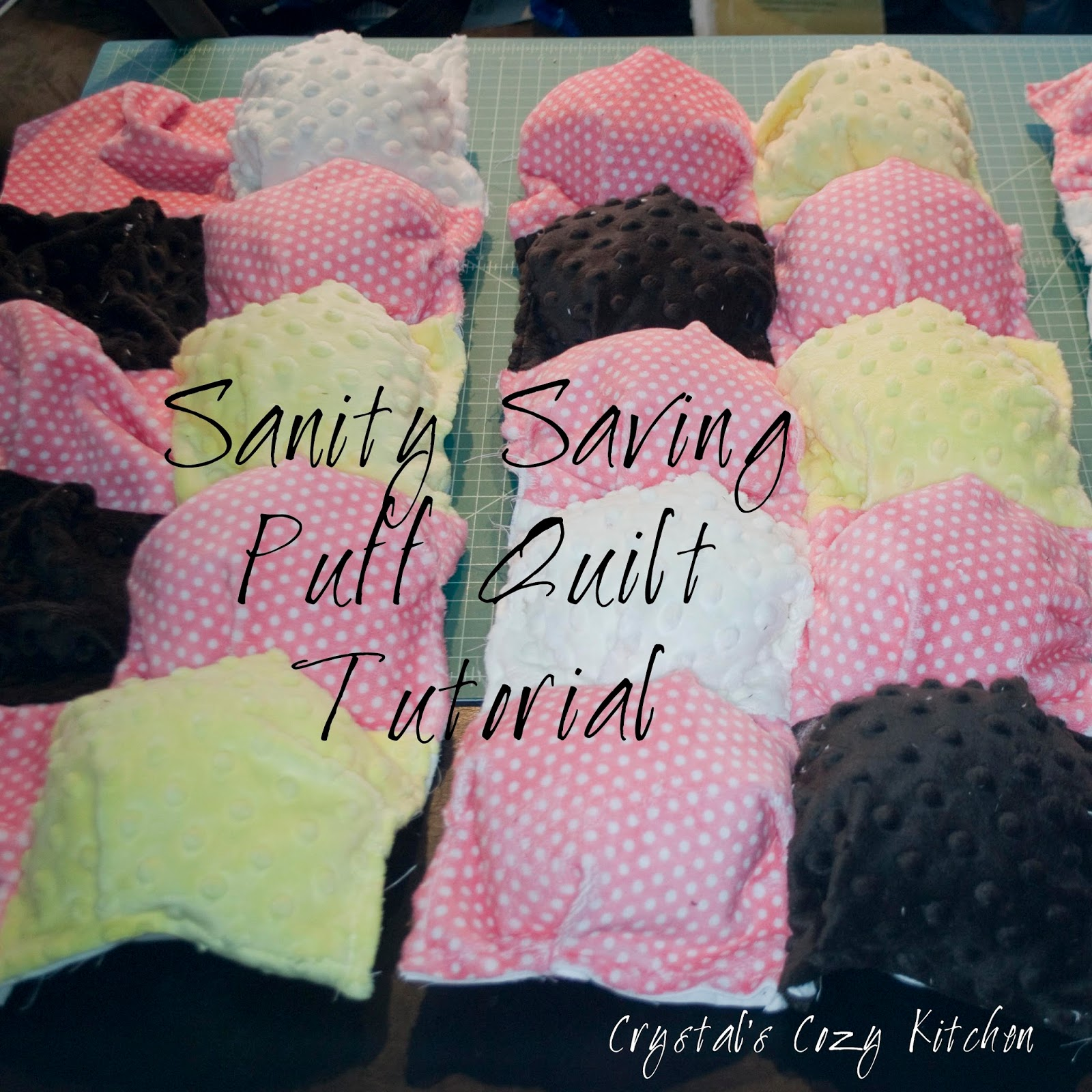 Crystals Cozy Kitchen Sanity Saving Puff Quilt Tutorial No Sewing