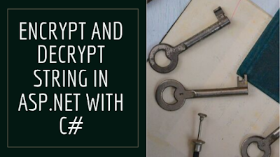 How to encrypt and decrypt string in asp.net with c#