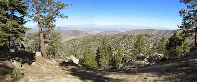 View northwest toward the Mojave Desert from Winston Peak