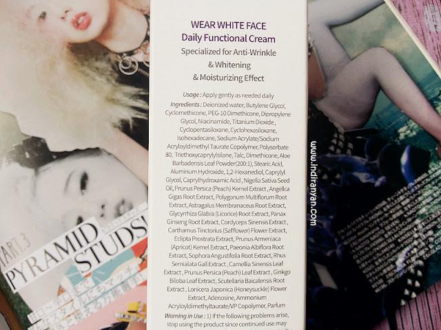 Lei Lani Wear White Face Whitening Finisher Ingredients