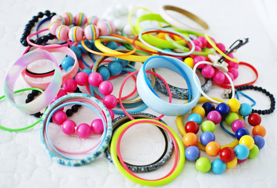 Colorful bracelets + a little surprise
