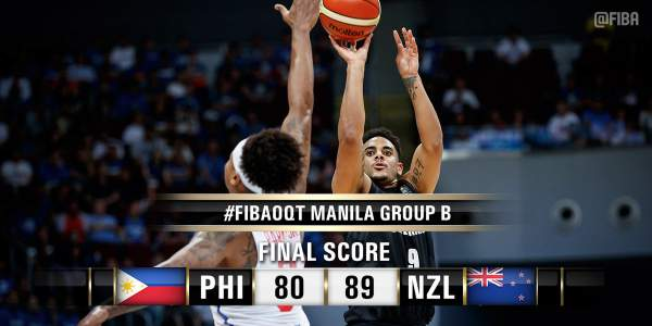 Philippines 80, New Zealand 89 | 2016 FIBA OQT. Image courtesy of FIBA