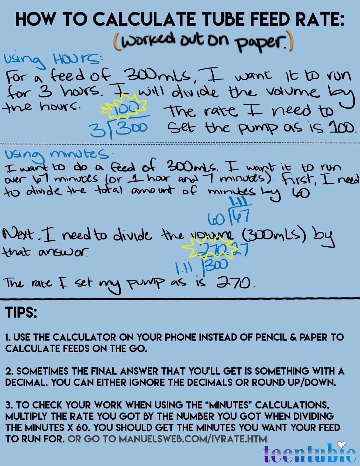 How To Calculate Feeding Tube Feed Rate
