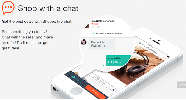 Shop with a chat indeed, just don't chat me up to lower the price too much! ;)