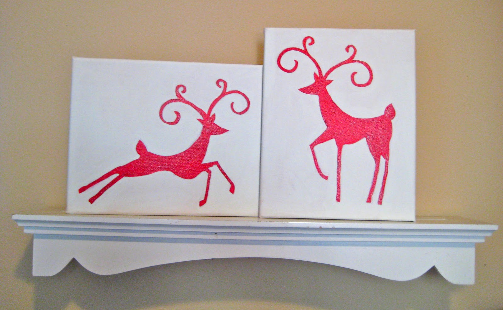 In The Mean Time I Have Been Doing Some Christmas Decorating Around House Made Easy Canvas Paintings Using EAD Designs Vinyl