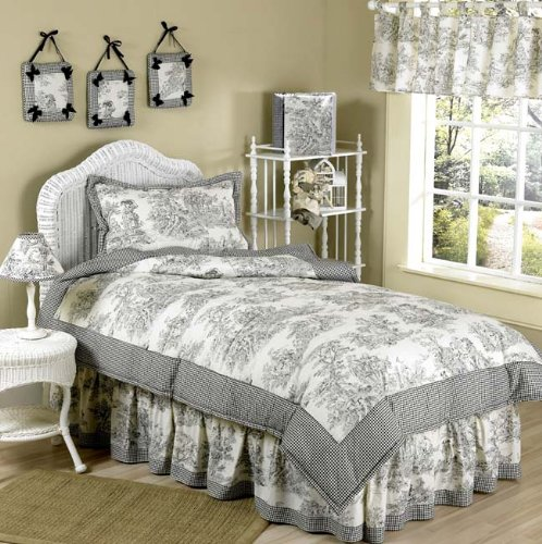 Cream Bedroom Decor: Black And White/Cream Toile & Damask Comforters And Bedding Sets