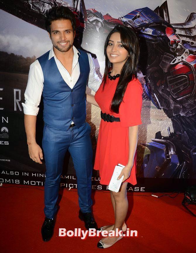 Ritwik Dhanjani and Asha Negi, Asha Negi, Lauren Gottlieb, Shama Sikandar at Transformers Movie premiere