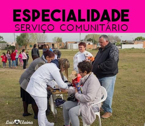Especialidade de Serviço Comunitário Respondida