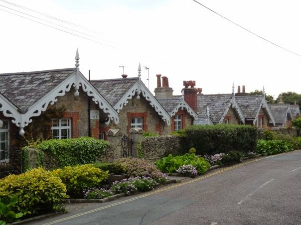 Picturesque houses on the Isle of Wight
