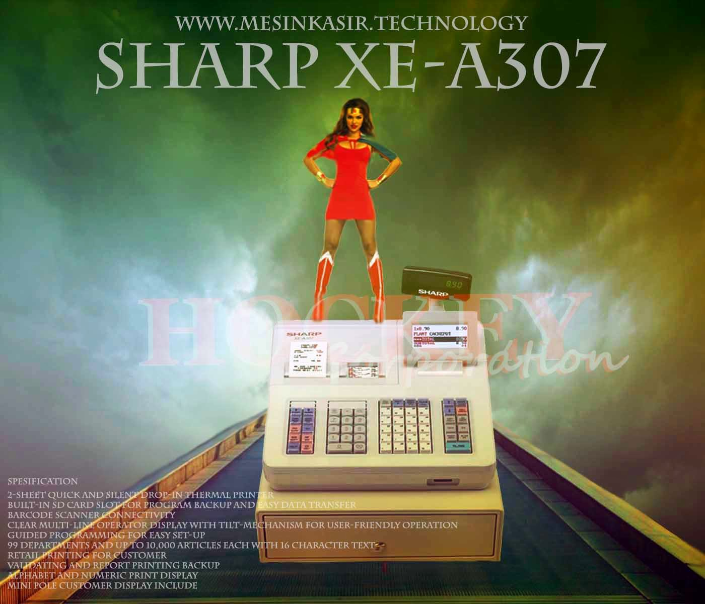 mesin kasir sharp xe-a307