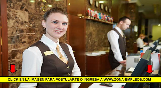 SE BUSCA RECEPCIONISTA PARA HOTEL
