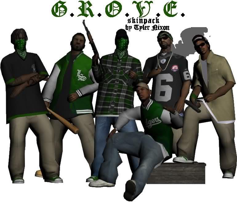 GTAResource: G.R.O.V.E. Skinpack
