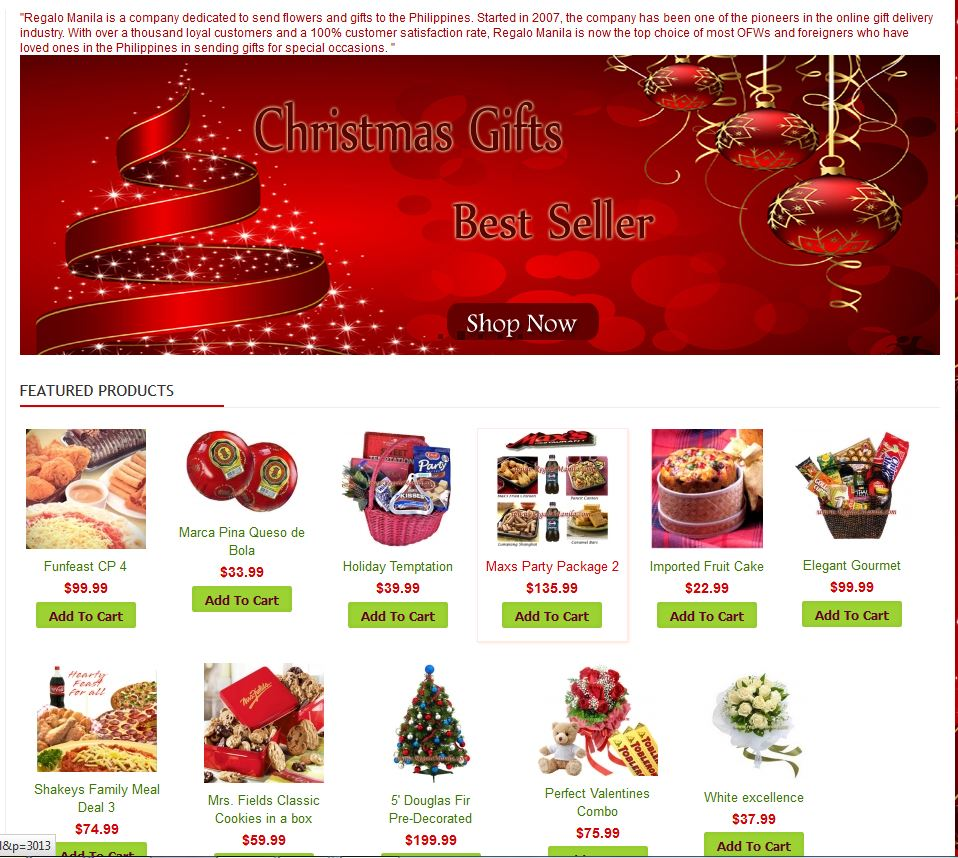 send xmas gifts online