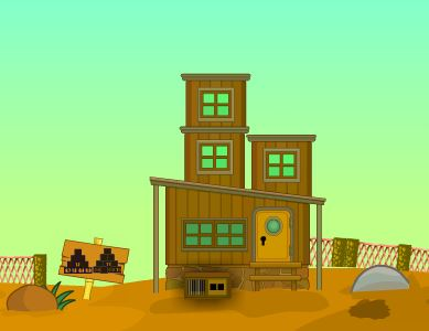 AvmGames Wooden Desert House Kori Escape