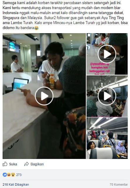 Belum Lama Beroperasi Stasiun Bandara Sudah Tuai Kritikan, Wanita ini Sebut Dirinya Korban Percobaan Sistem