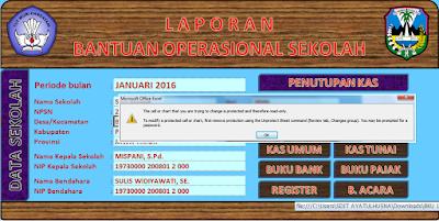 Aplikasi Excel Untuk Membuat Administrasi Dana Bantuan BOS Bulanan