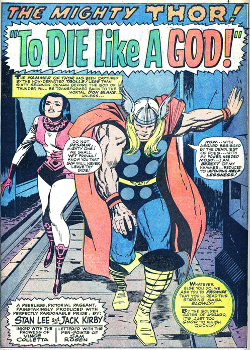 Thor 139 To Die Like a God Sif