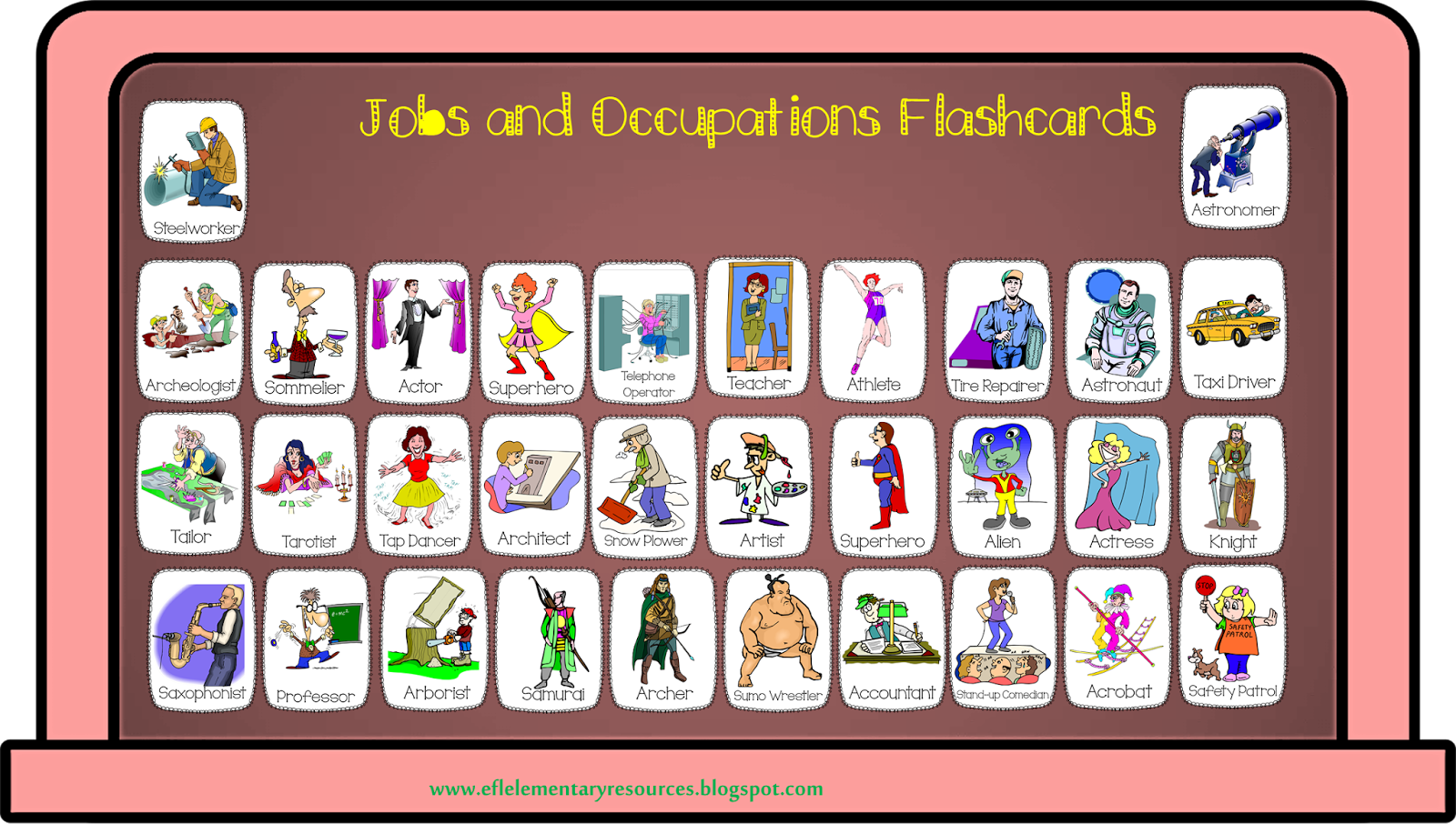 Efl Elementary Teachers Community Helpers Jobs And