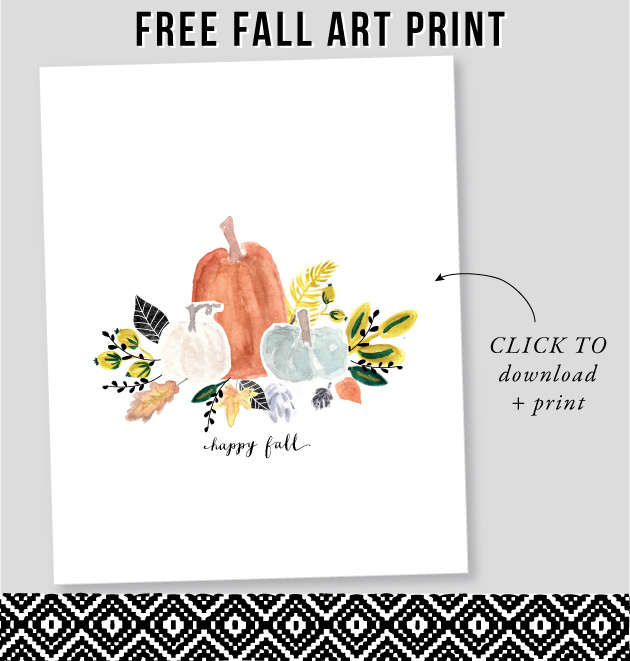 Fall pumpkins free printable