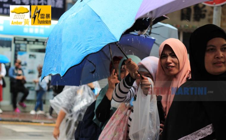 Observatory Hong Kong Keluarkan peringatan Hujan Kuning Dan Badai Petir Yang Berlaku di Hong Kong