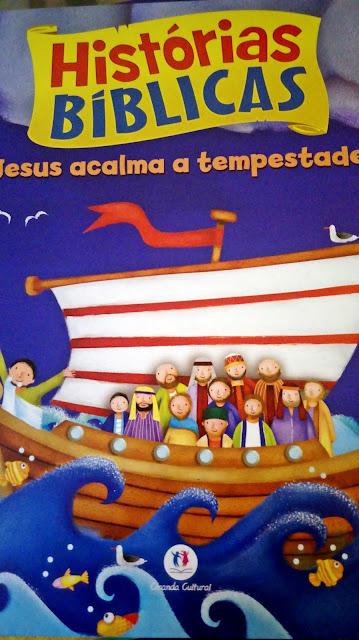 Achegue-se! Dicas para presentear - Histórias bíblicas - Jesus acalma a tempestade