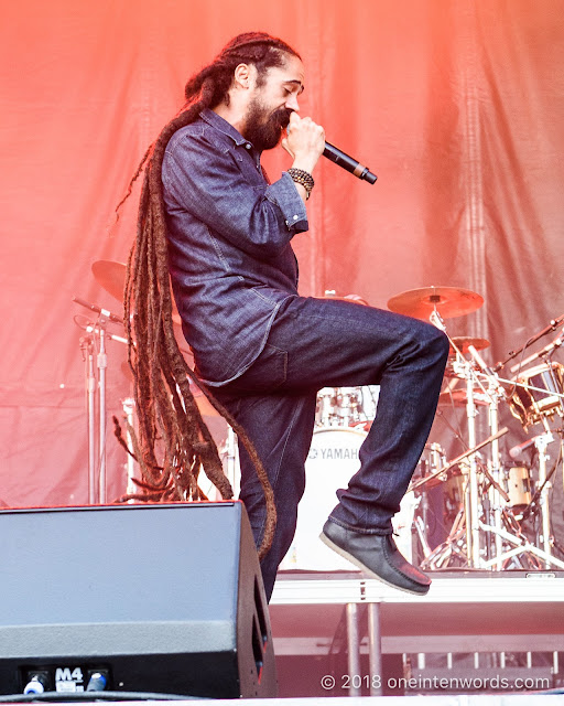 "Damian ""Jr. Gong"" Marley on the Garrison Stage at Field Trip 2018 on June 2, 2018 Photo by John Ordean at One In Ten Words oneintenwords.com toronto indie alternative live music blog concert photography pictures photos"