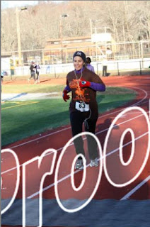 Me at my first Thanksgiving 5k running race.