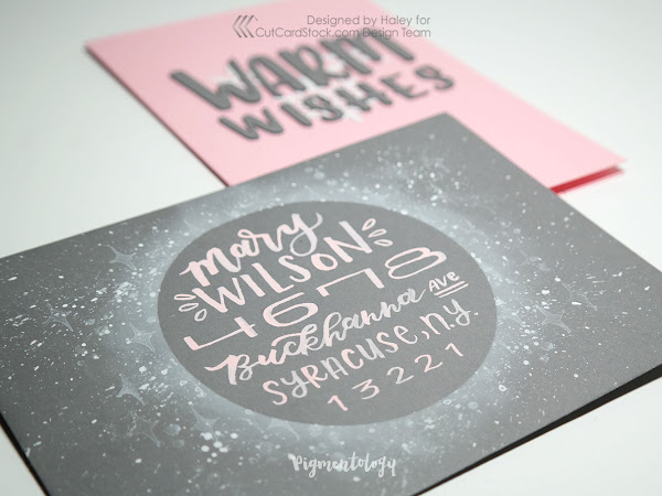 Frosty Envelope Art with Metallic Card Stock Embellishments