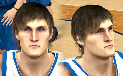 NBA 2K13 Andrei Kirelenko Cyberface Patch