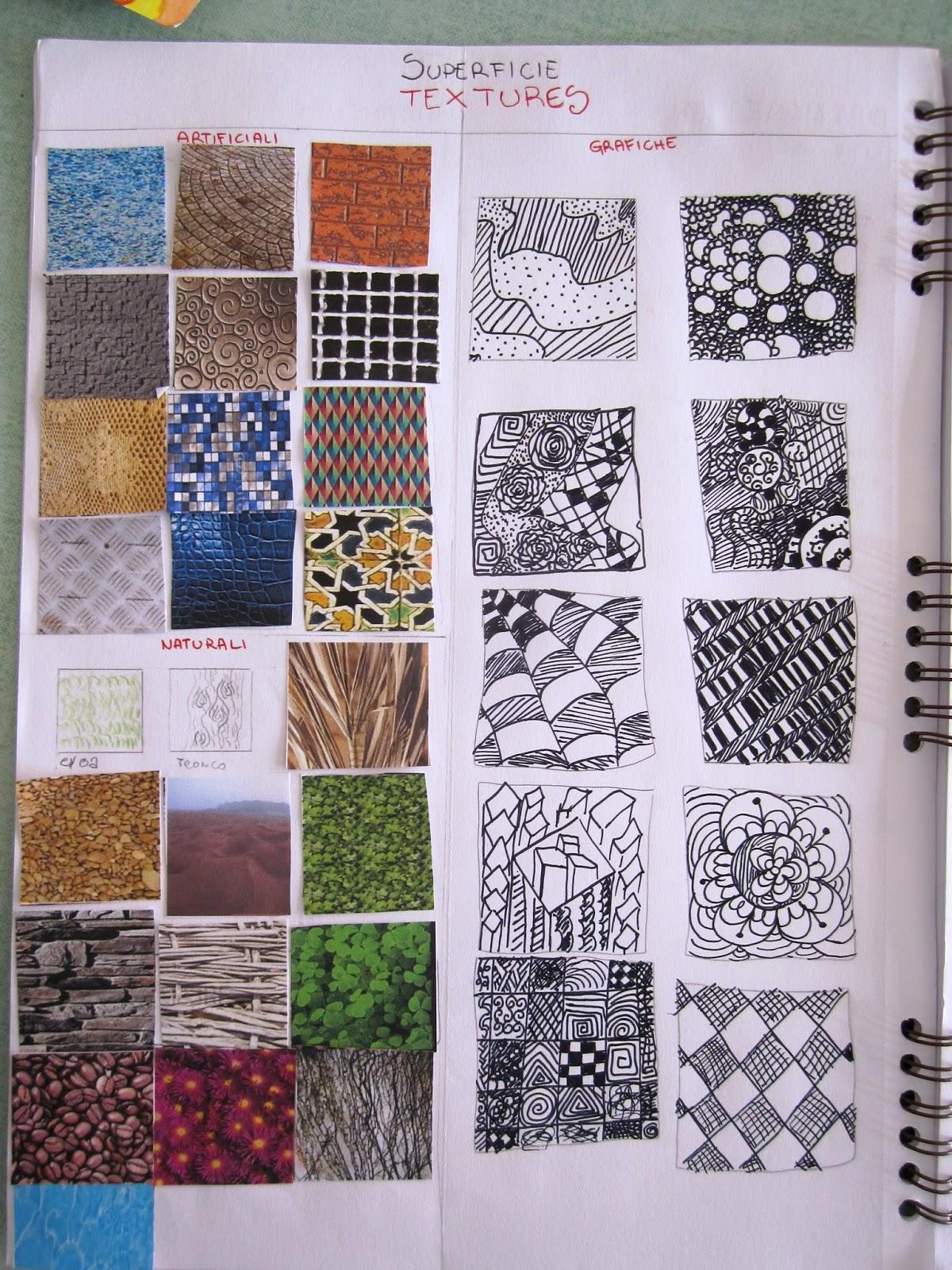 Amato immagin@rti: Textures exercise. Il quaderno di Arte. LR23