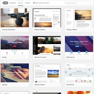 Gestaltungsvorlagen für WordPress