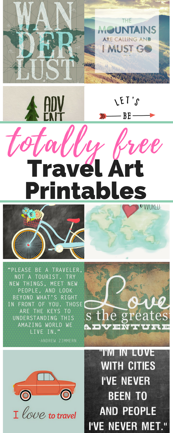 15 FREE Travel Inspired Printables for Your Gallery Wall, Office, or Nursery