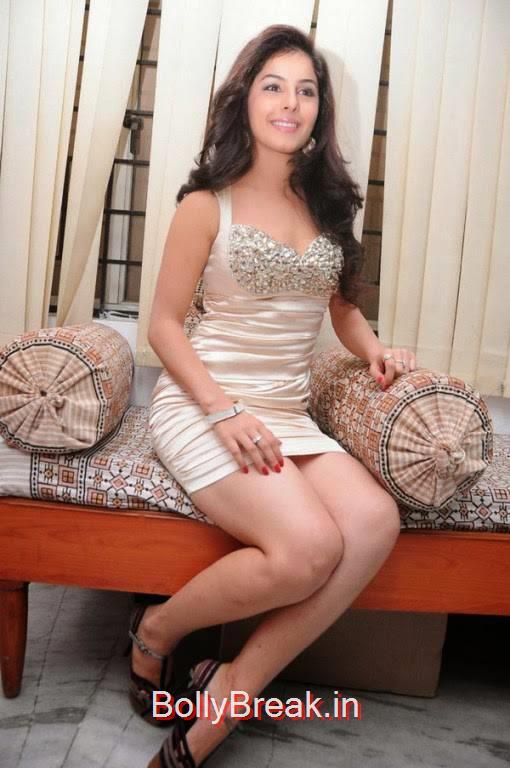 Isha Talwar Stills in Silver Cream Skirt