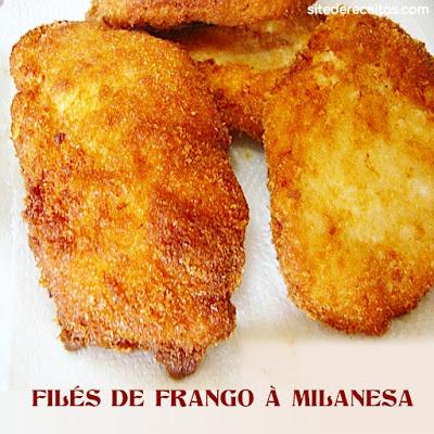 Filés de frango à milanesa