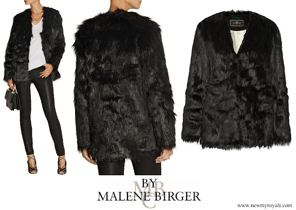 Crown Princess Victoria wore By Malene Birger Zannaz faux fur coat