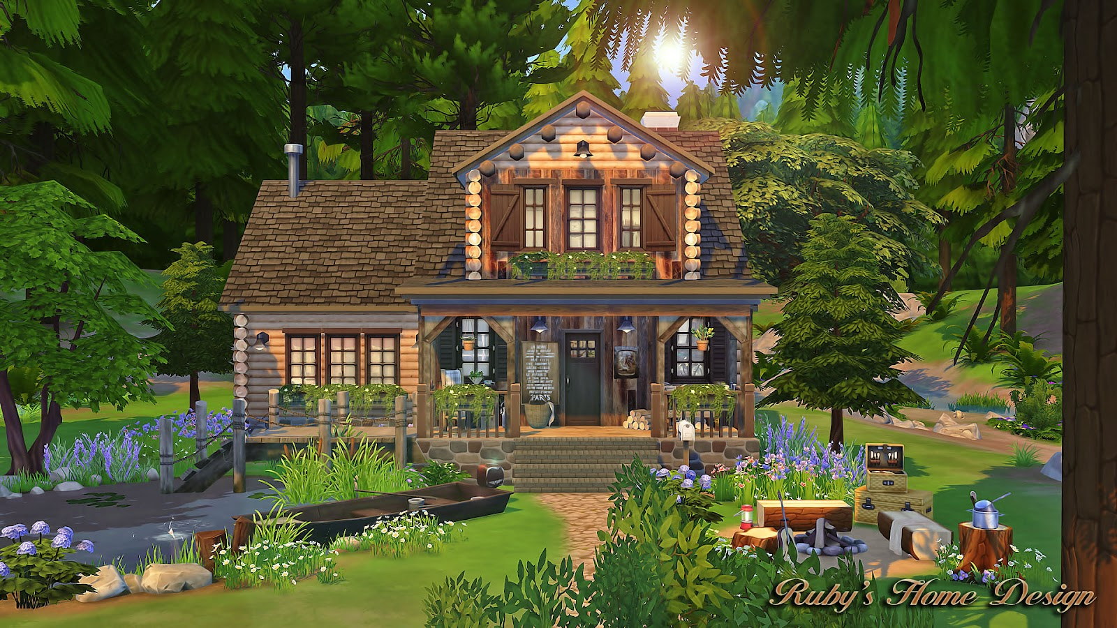 Sims4 Forest Cabin Rubys Home Design