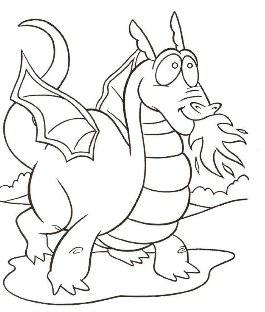 Dibujos Animados Para Colorear El Vuelo De Dragones Para