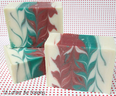 I'd Lather Be Soaping: Candy Cane Taiwan Swirl