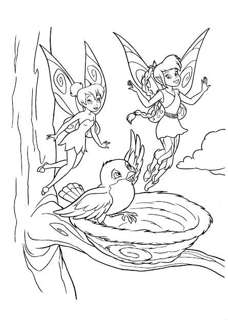 Free Printable Tinkerbell Coloring Pages Kids Tinker Bell Is