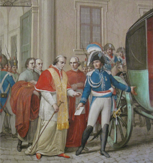 The arrest of Pius VII in Rome in 1809, after which he remained in exile until 1814