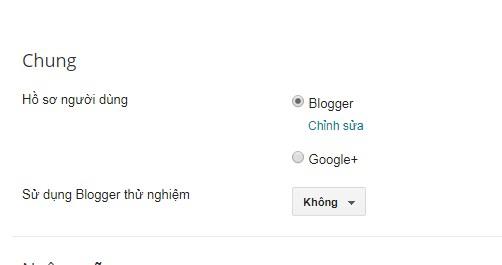 Thay đổi tên hiển thị trên blogspot/blogger