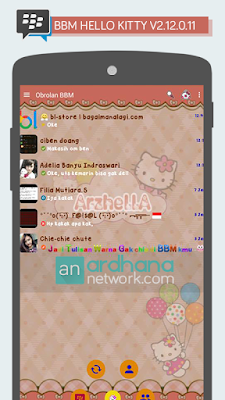Review BBM Mod Hello Kitty v2.12.0.11