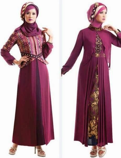 Contoh desain baju muslim modern nan menawan