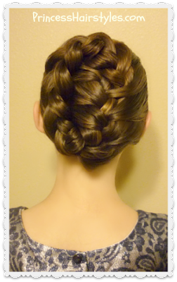 French braid tuck tutorial, cute holiday updo