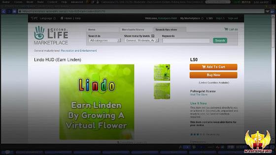 Second Life Marketplace, Lindo Virtual Flowers HUD