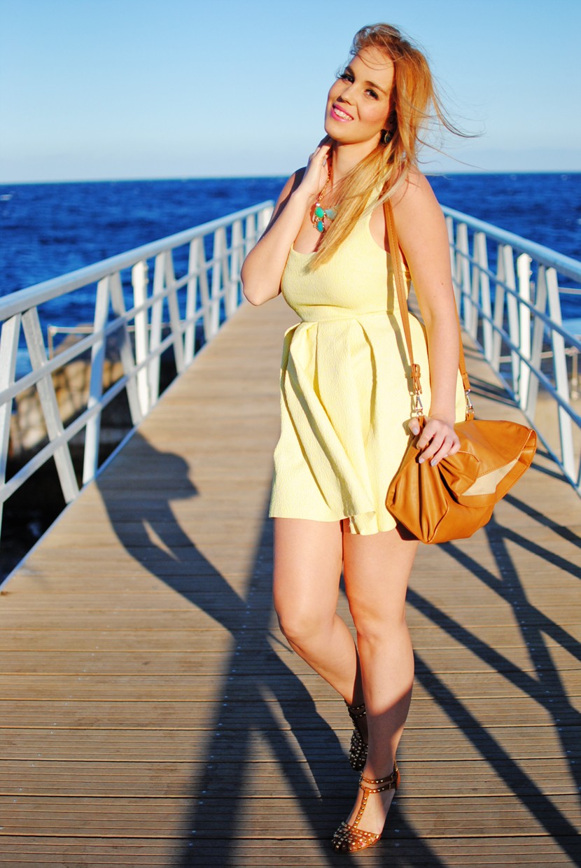 BITCHY GYPSY, YELLOW DRESS, NERY HDEZ, CANGREJERAS ZARA