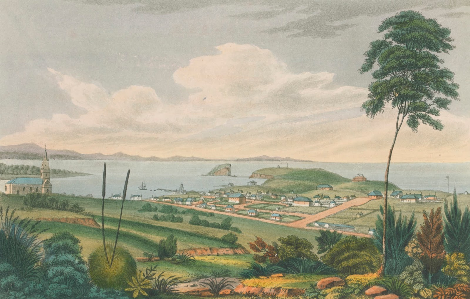 Newcastle, New South Wales 1824; Joseph Lycett 1774?-1828; Publisher J. Souter London