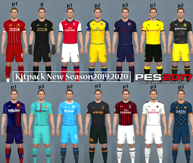 PES 2017 Kitpack V 1New Season 2019/2020 ~ Game Plus Patch