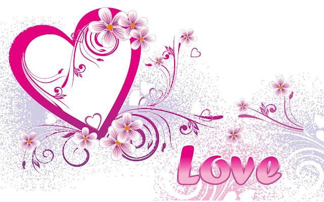 Liefdes hartje met de tekst love