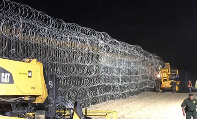President Trump Tweets a Photo of What the Border Fence With Tijuana Looks Like Now